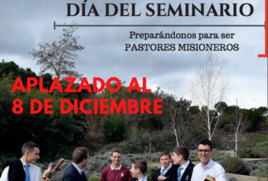 La jornada del Día del Seminario se aplaza al 8 de diciembre