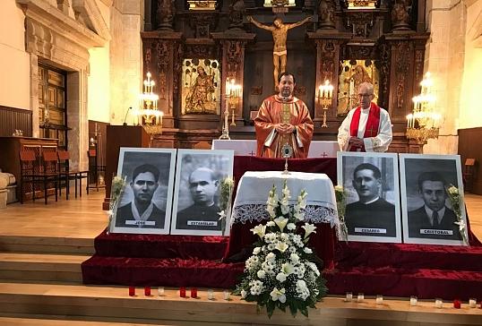Entrega de la reliquia en Villalfranca del beato Cesáreo Elexgaray