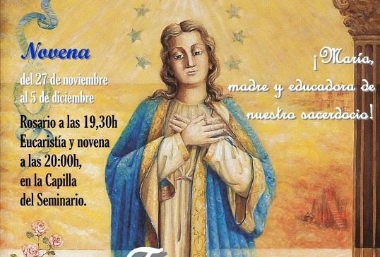Novena y Fiesta de la Inmaculada en el Seminario