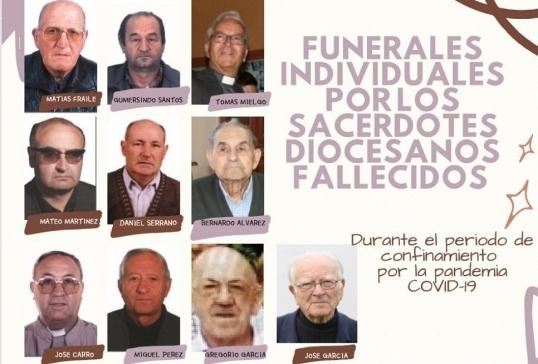 FUNERALES INDIVIDUALES POR LOS SACERDOTES DIOCESANOS FALLECIDOS DURANTE EL CONFINAMIENTO