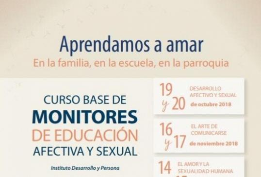 Curso Base de Monitores de educación afectiva y sexual