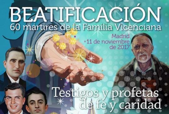 Beatificación de 60 mártires de la Familia Vicenciana