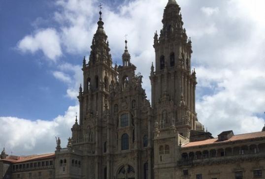 Peregrinos bañezanos en Santiago