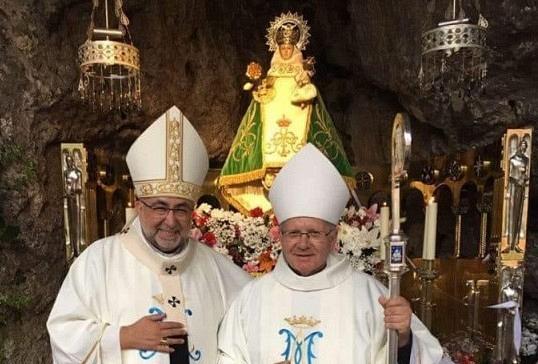 El obispo de Astorga,en la Novena de Ntra.Sra.de Covadonga