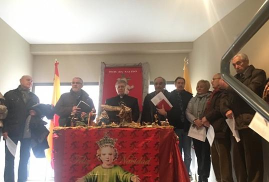 El Sr.Obispo preside la inauguración ecuménica del Belén de Cáritas