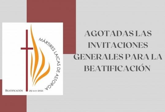 AGOTADAS LAS INVITACIONES GENERALES PARA LA BEATIFICACIÓN DE LAS MÁRTIRES