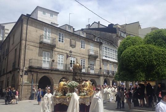 El Sr. Obispo participa en la ofrenda al Santísimo Sacramento en Lugo