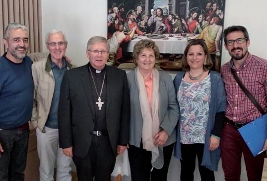 D. Juan Antonio con el equipo de Migraciones