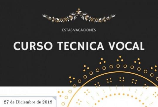 CURSO DE TÉCNICA VOCAL PARA JÓVENES