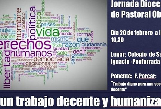 JORNADA DE PASTORAL OBRERA 2016